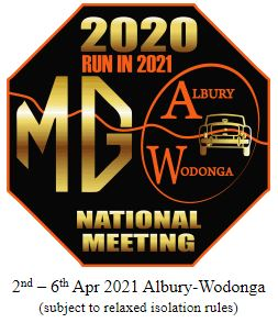 MG National Meeting 2021 Cancelled