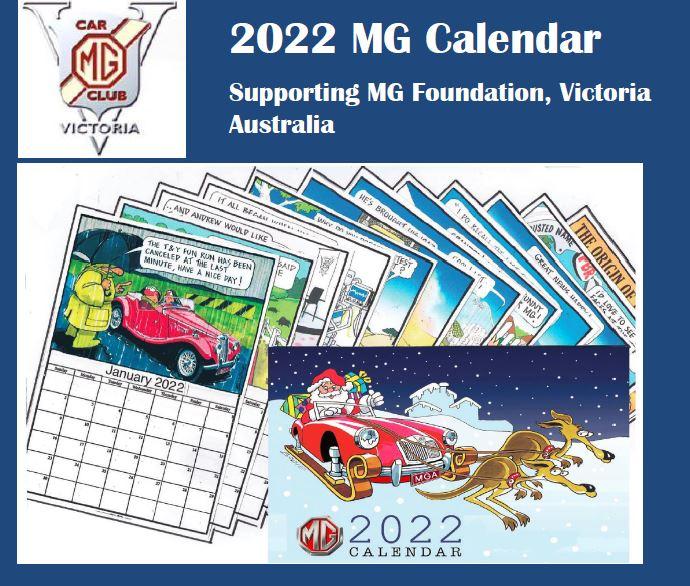 MG Car Club Victoria Wall Calendar